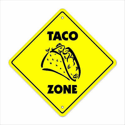 TACO ZONE Sign xing gift novelty mexican food burrito restaurant bus