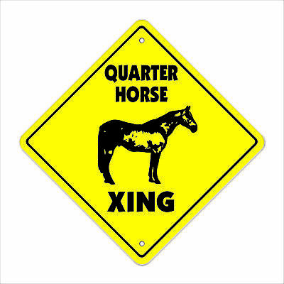 QUARTER HORSE CROSSING Sign xing gift novelty jump race saddle supplies bit