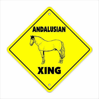 ANDALUSIAN CROSSING Sign xing gift novelty pure spanish horse