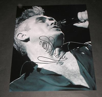 "Morrissey Pp Signed 10X8"" Photo Repro The Smiths"