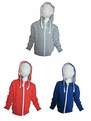Girls/Boys Hoodie Zipped Hoody Fleece Lined Ages Quality 7-8, 9-10, 11-12 or 13Y