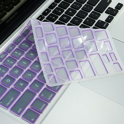 "New Arrival! PURPLE Silicone Keyboard Cover for All Macbook 13"" 15"" 17"""