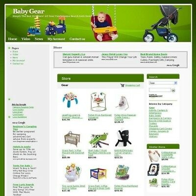 Established Online Baby Gear Store Business Website For Sale! Free Domain Name!