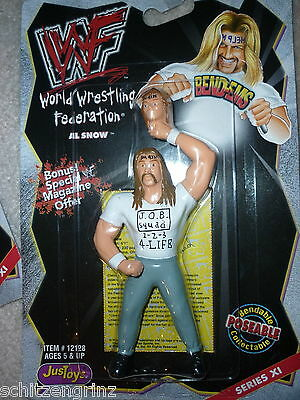 Just Toys WWF Bend-Ems Series XI  11 Al Snow w/Head action figure 1999  wwe