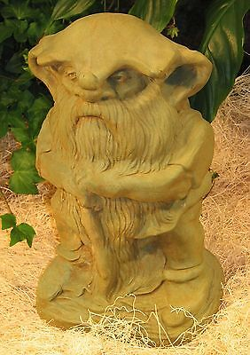 Cast Stone Cement Large Rainman Gnome Outdoor Garden Statue