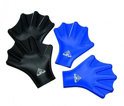 Water Gear Silicone Force Web Gloves Swimming Hand Aqua Training Paddles 83200