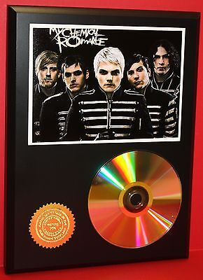 MY CHEMICAL ROMANCE PUNK 24kt GOLD CD/DISC COLLECTIBLE RARE AWARD QUALITY PLAQUE
