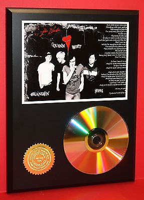 THE USED ALTERNATIVE 24kt GOLD CD/DISC COLLECTIBLE RARE AWARD QUALITY PLAQUE