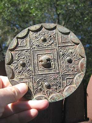 Chinese Bronze mirror 4 dragons with continuous arc design, W. Han Dynasty 206BC