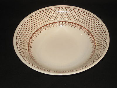 Vintage Orleans Franciscan English Ironstone Brown Pattern Cereal Bowl