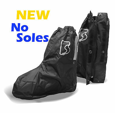 Motorcycle Windproof Waterproof Rain Boot Covers without Sole NEW