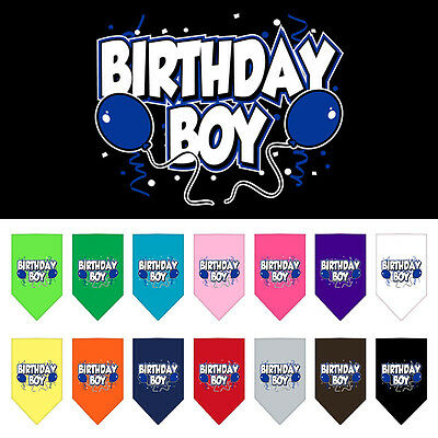 BIRTHDAY BOY or GIRL  DOG BANDANA   - Large or Small - Lots of colours
