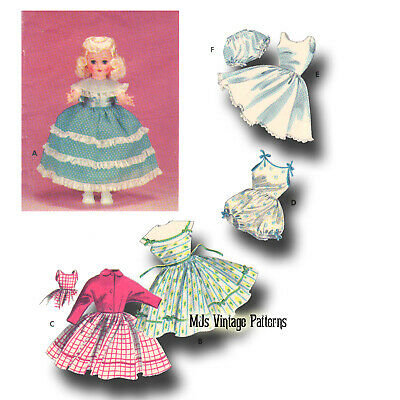 "Vintage Doll Clothes Dress Pattern 14"" 15"" Toni, Miss Revlon, Sweet Sue"