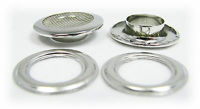 12pc. 1-inch Outside Dia. Shiny Nickel Screened Grommets w/ Washers 32-42-02