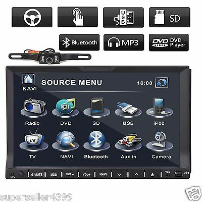 "Deck HD 7"" LCD Car Stereo DVD-CD-Radio-Ipod Player Bluetooth TV USB Double 2 Din"