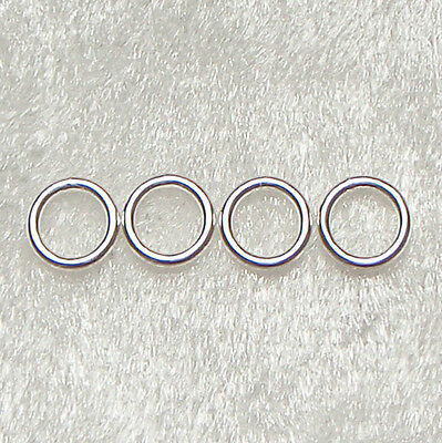 10x STERLING SILVER JUMP RING 4mm DIAMETER using 0.8mm Wire JEWELLERY MAKING