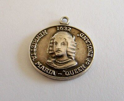 Sterling Silver Queen Of England & Barons Of Maryland Charm