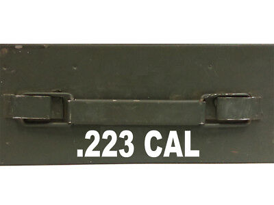 """FGD .223 Cal Ammo Box Decals Two 6.51"""" x 1.5"""" One 3.25""""x 0.75"""" Box Not Included"""