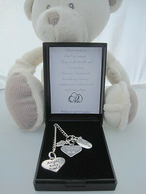 UNIQUE LOSS OF CHILD BEREAVEMENT MEMORIAL CHARMS MEMORY HANDCRAFTED GIFT&Freebie