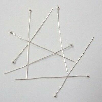 200 pieces 2mm Ball Headpins - Silver - A6008 / 25mm