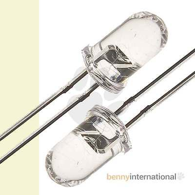 20x 5mm WARM WHITE LED Clear Light Emitting Diode Pack - AUS STOCK