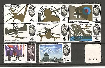 wbc. - GB - COMMEMS - 1965 - 25th ANNIV. OF BATTLE OF BRITAIN - UNMOUNTED  MINT