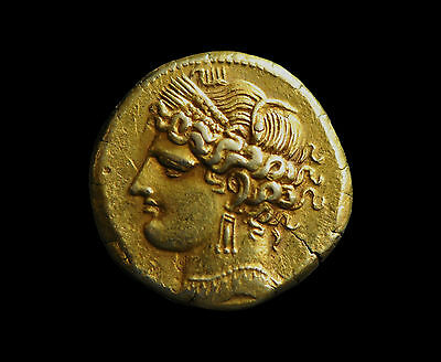 Aphrodite- Ancient Carthage Gold Trihemistater