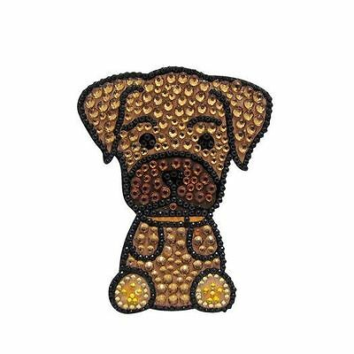 Boxer Dog Rhinestone Glitter Jewel Phone Ipod Iphone Sticker Decal