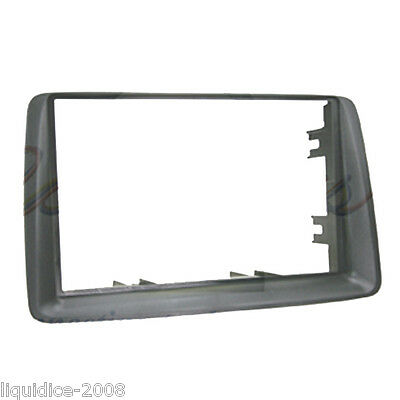 CT24FT19 FIAT PANDA 2003 to 2012 GREY DOUBLE DIN FACIA ADAPTER FRAME ONLY