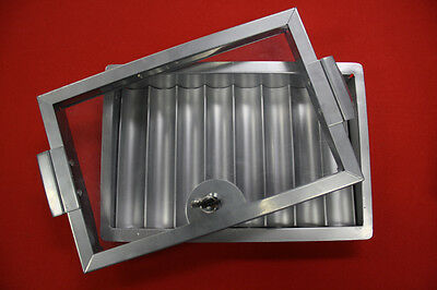 Professional Metal Casino Poker Chips Tray & Locking Cover 8 Row