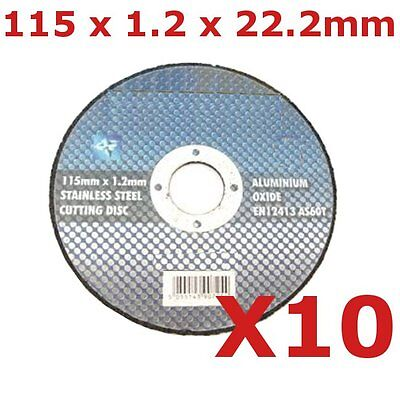 "10 x 115mm Slitting Discs stainless steel cut off discs 4.5"" inox cutting discs"