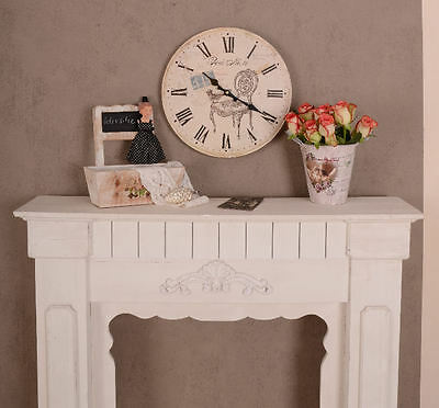 franz sische wanduhr landhausstil rosen vintage uhr nostalgie. Black Bedroom Furniture Sets. Home Design Ideas