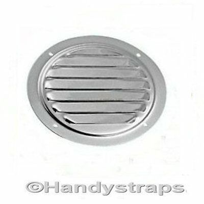 120mm  Round  Louvered Vent Stainless Steel Marine