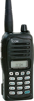 ICOM IC-A14 VHF AIRBAND HANDHELD TWO WAY RADIO with 220 Volt Charger