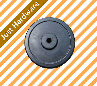 "6"" Solid Rubber Wheel For Jockey Wheel Replacement"