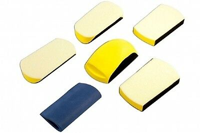 Powertec Professional Bodyshop Automotive Sanding Block Tool Kit 6 Piece