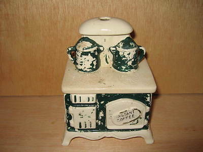 Vintage Lego Japan Ceramic Instant Coffee Stove Canister
