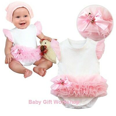 BABY GIRLS ROMPER SUIT OUTFIT with PRINCESS PARTY DRESS TUTU SKIRT funky gift
