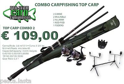 Super Kit Da Carpfishing Canna Mulinello Rodpod Avvisatore Da Pesca Pl471