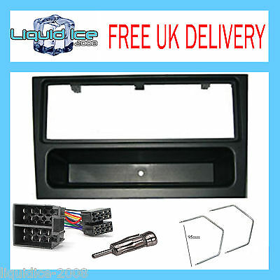 VAUXHALL FP-19-00 VECTRA 2002 to 2008 BLACK FASCIA FACIA STEREO FITTING PACKAGE