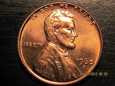 1960 D - Lincoln  Memorial Cent from- BU - Roll-Tempting