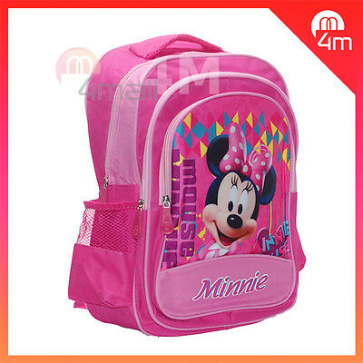 Kids Girls Large School Bag Shoulder Backpack Disney Minnie Mouse Rucksack Gift