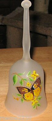 Viking Glass Butterfly Bell- Made in the USA- Beautiful!