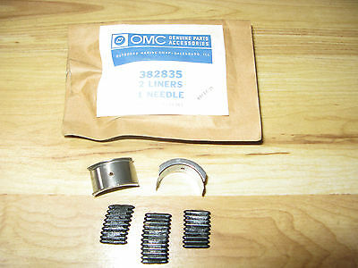 New NLA Johnson Evinrude OMC BRP # 382835 Liners & Needle NOS OEM 9.5HP 1964-73