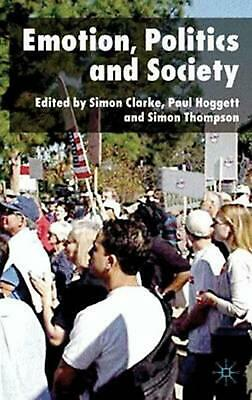 NEW Emotion, Politics and Society by Hardcover Book (English) Free Shipping