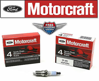 set of 8 Motorcraft Spark Plug SP493 AGSF32PM