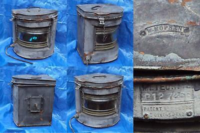 antique copper huge starboard navigation light lantern