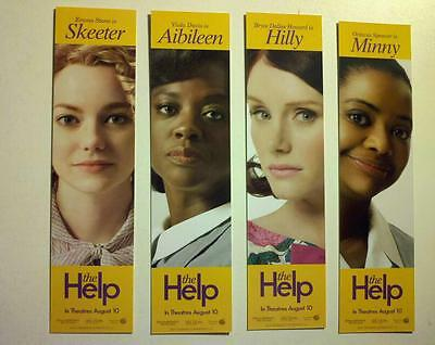 The Help movie bookmark set of 4 new rare