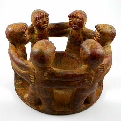 Circle of Friends Mexican Candleholder, 6 Friends, 4.5 Inches Tall
