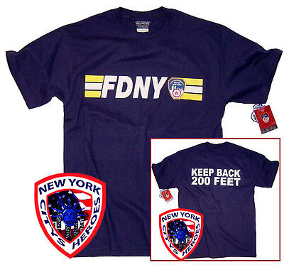 FDNY T-Shirt Navy Blue Officially Licensed by The New York City Fire Department